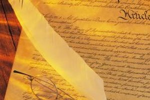 The U.S. Constitution outlines the basic principles of the country's law.