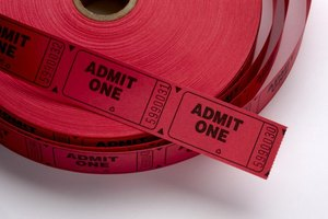 A roll of red fundraising tickets.
