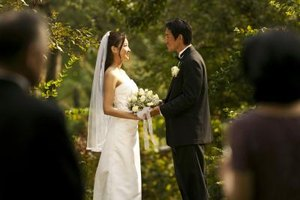 The type of ceremony conducted is dependent on the bride and groom's beliefs.