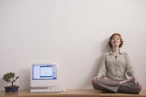 Refresh yourself with some meditation during work breaks.