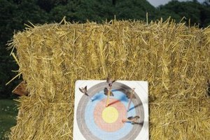 Hay bales make suitable targets, but they are neither durable, nor easy to move.