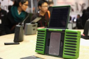 Some exotic docks charge the iPod using solar power.