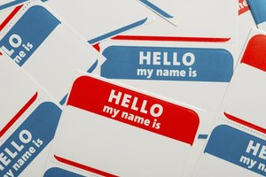 Don't overthink the name tags, but do think outside the expected.