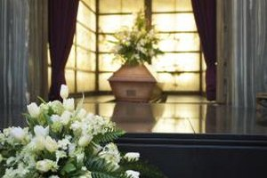 Funeral homes are responsible for embalming or cremating human remains.
