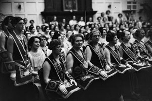 Female freemasons in English Masonic Temple, June 1937