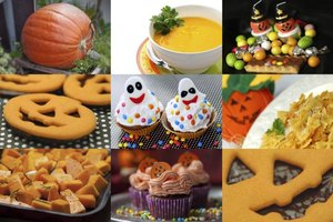 "Set out plenty of yummy Halloween treats to offset the ""feel and squeal"" stuff in a party coffin."