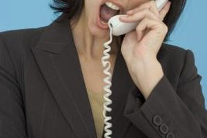 You don't have to tolerate threatening phone calls.