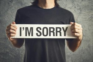 A sincere apology can help soothe hurt feelings.