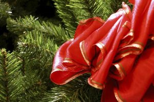 Add a ribbon bow for a traditional-style wreath.