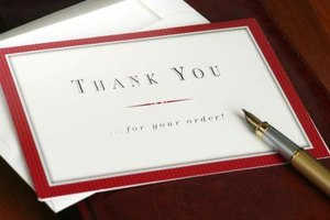 A thank-you note is a thoughtful way to respond to any gift.