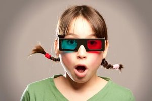 Red-blue 3D glasses use color filtering to deliver different images to each eye.