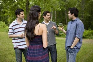 Party small-talk helps you discover shared interests.