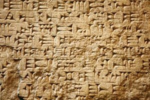 Mesopotamia used the cuneiform alphabet, while ancient Egypt used hieroglyphics.