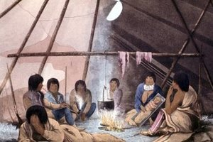 The whole family would live together in the tipi.