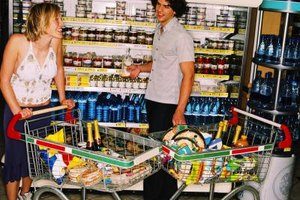 Local grocery stores are popular places for singles to shop.