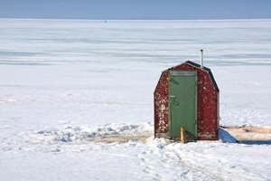You can consider adapting a pre-existing structure when designing an ice shack.