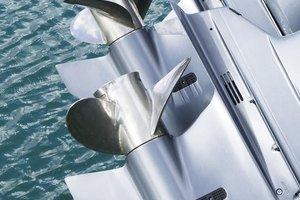 An outboard's water pump is in the lower unit, just above the propeller.