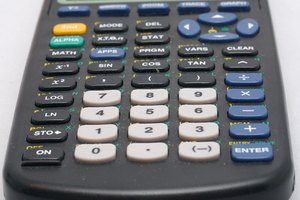 The keyboard of a TI-83 Plus.