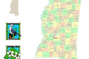 Map of Mississippi.