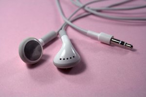Ear buds that are used with the iPod.