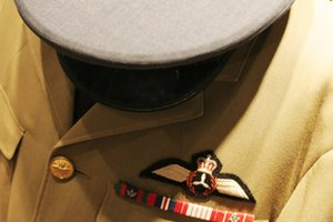 Ribbon bar on a male uniform