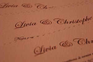 How to Correct Wording on Invitations