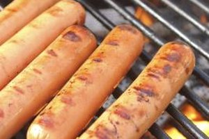 Hot dogs cook quickly to please waiting crowds.
