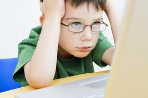 Children can resort to negative thinking if they cannot resolve a task immediately.