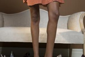 Heels are your best option to make your legs look longer.