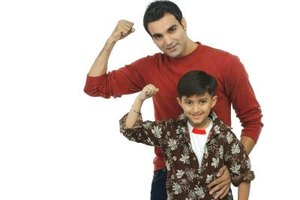 Parental support helps child respond to a bully with confidence and strength.
