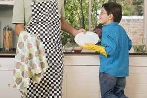 Show your child how to do each chore before you have him strike out on his own.