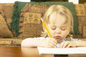 Drawing and other art activities can help younger children express feelings of grief.