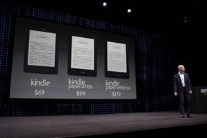 Many versions of the Kindle can sync with a Wi-Fi or cellular connection.