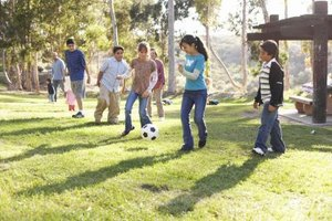 Most teens still enjoy playing outside.