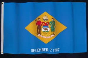 Delaware's state flag celebrates its status as the nation's first state.
