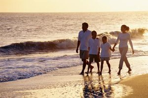 Just walking along the beach is a fun family outing.