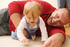 Encouraging physical activity helps a child's motor development.