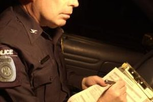Patrol officers handle numerous duties, including issuing traffic citations.