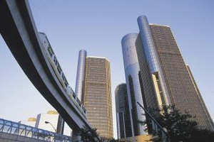 The Renaissance Center is a familiar sight along Detroit's skyline.
