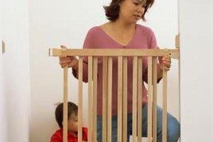 Baby gates can be helpful in keeping kids out of dangerous areas.