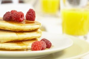 Golden-brown pancakes can be part of a healthy breakfast.