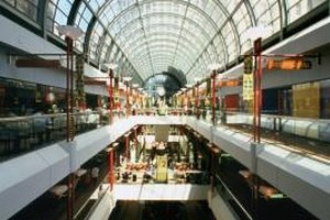 Large commercial properties, such as shopping malls, often have a resident property manager.