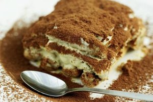 Ladyfingers are the traditional cake for a tiramisu, but any light sponge cake works.