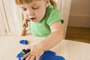 Your child can smoosh and pound clay to release tension.
