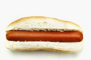 Processed foods, like hot dogs, can contain man-made additives.