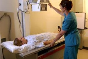Many radiologic technologists prepare patients to take X-rays.