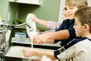 Teach kids from an early age that all family members help with chores.