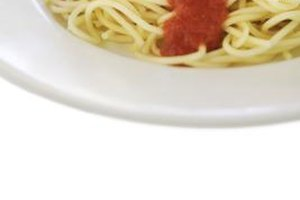 Pasta dishes, like spaghetti and marinara sauce, are quick and easy to make.