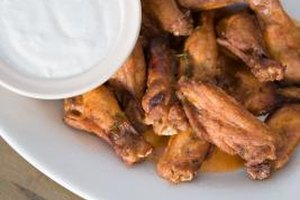 Cook chicken wings in advance to save time.