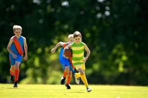 Your child is building her athletic abilities as she grows.